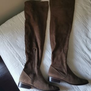 Brown Suede Knee High Boots!